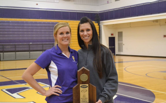 Head coach Kim Nemcek (left) with assistant coach Jenn Woods.  Photo courtesy of Jenn Woods.