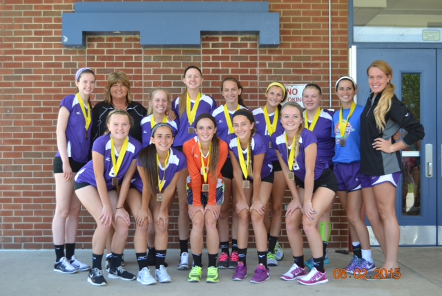 Varsity volleyball places third at bluegrass games