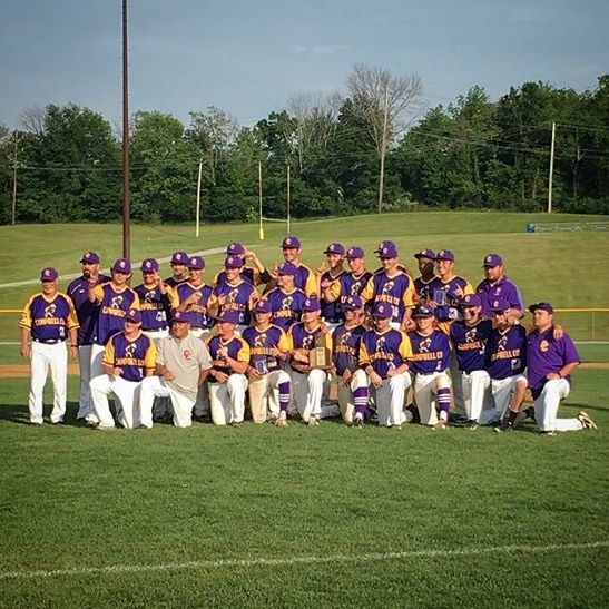 Baseball celebrates after capturing their 11th district championship