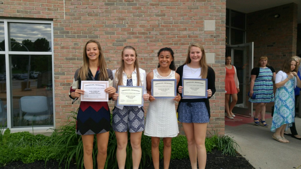 Danielle Orick and Sarah Terhaar received Honorable Mention, while McKinlee Miller, Jessica Walsh, and Ashley Leicht received first team honors.