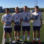 All tournament team members Grady Houston, Adam Clark, Griffin Thomas, and Colton Schneider.