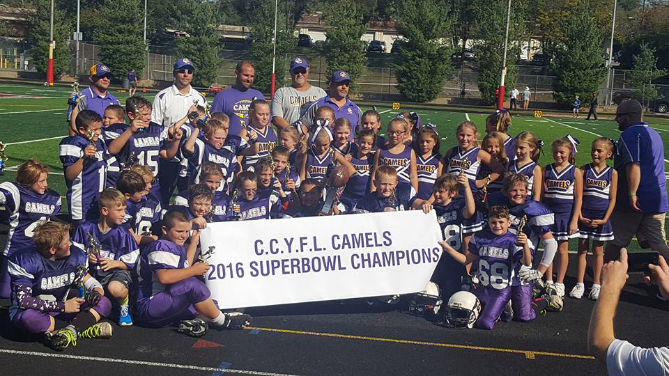 CCYFL Midgets after winning the superbowl