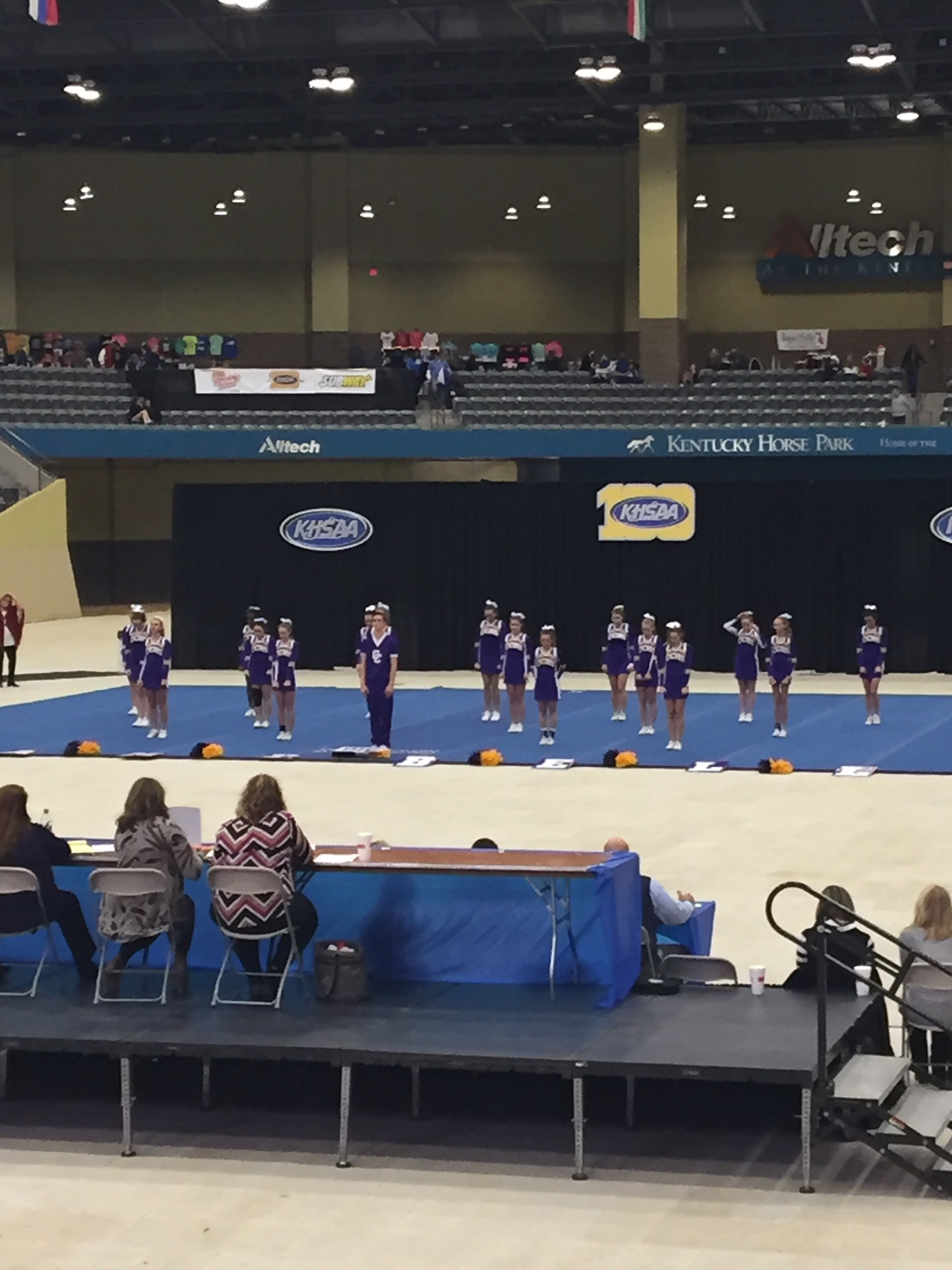 Campbell County Cheerleaders finished 8th at state