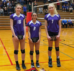 Kasey Martin, Elena McCleary, and Olivia Crowl.