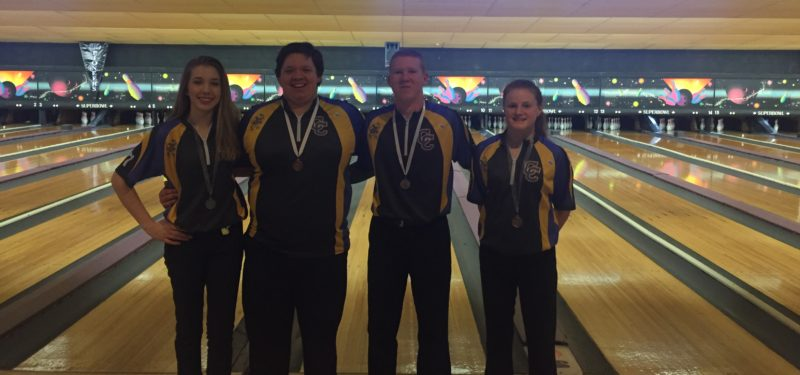 Kaylee Hitt, Austin Hitt, Cameron Bechtol, and Aleah Staggs will advance to the KHSAA state bowling tournament