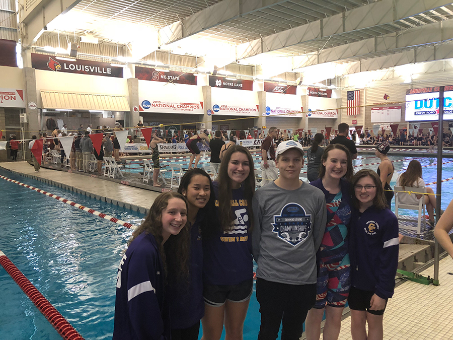 Campbell County swimmers at the state meet