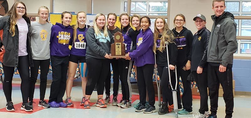 The girls cross country team won the 2018 regional title