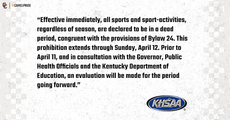 KHSAA Message on Spring Sports 20202